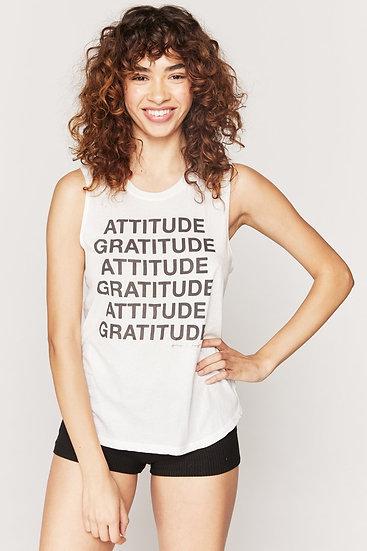 Attitude Gratitude Muscle Tank
