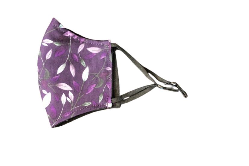Contour Face Mask - Purple Floral