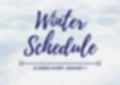 Winter 2020 schedule announcement