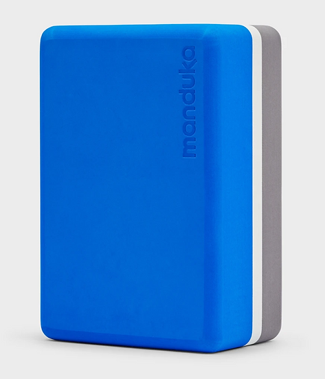 recycled foam yoga block -be bold blue