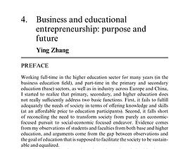 Business and educational entrepreneurship: purpose and future