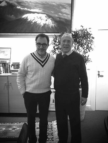 Angel Gurría Secretario General de la OCDE y Antonio J. De Rosenzweig, fundador del IMOPA tras la reunión que permitió obtener la definición científica de desastre