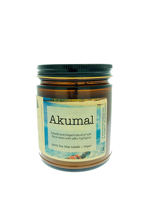 Akumal ~ Soft Floral Notes with Salty Highlights ~ 100% Soy Candle ~ 8 oz