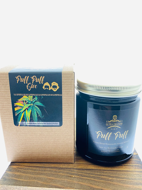 Puff, Puff, Give ~Unique Honeysuckle Jasmine with a Hemp Infusion ~ Soy Candle