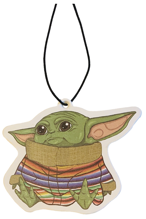 Baby Yoda Air Freshner ~ Forest Scent