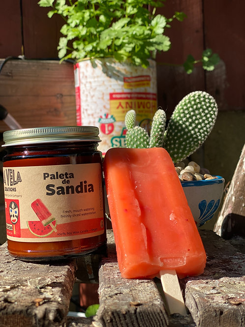Paleta de Sandia ~ Fresh, Sweet Watermelon Scented Soy Candle