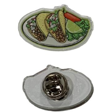 Taco Plate - Acrylic Pin