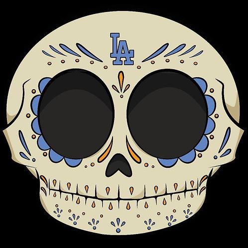 Dodgers Calavera - Premium Vinyl Stickers