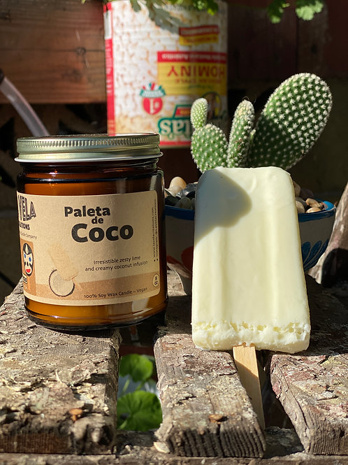 Paleta de Coco ~ Sweet Coconut Lime Scented Soy Candle