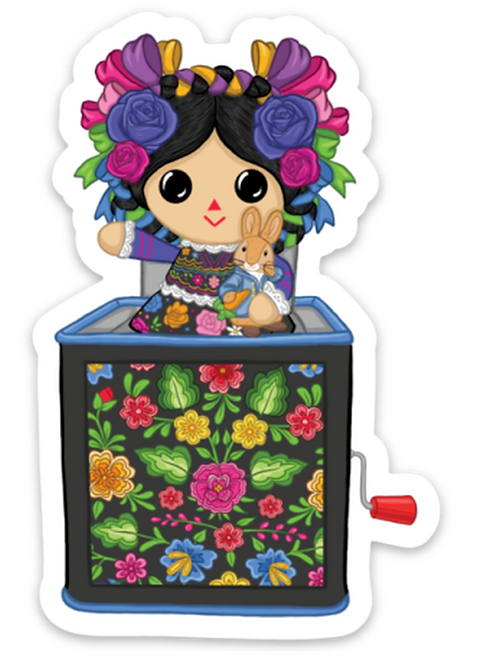 Maria in the Box - Premium Vinyl Stickers