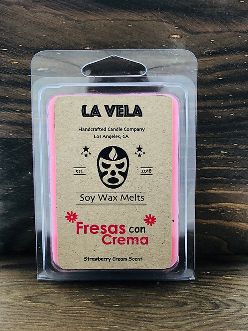 Fresas con Crema Soy Melts ~ Strawberries and Cream Soy Blend ~ Hand Crafted