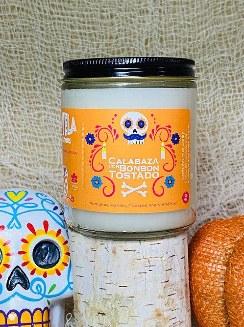 Calabaza con Bonbon ~ Pumpkin, Vanilla, Toasted Marshmallow ~ Fall Soy Candle