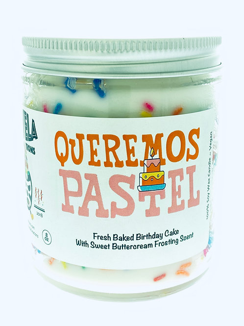 Queremos Pastel ~ Birthday Sprinkle Candle ~ Fresh Baked Cake Scent