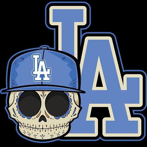 LA Dodgers Calavera - Premium Vinyl Stickers