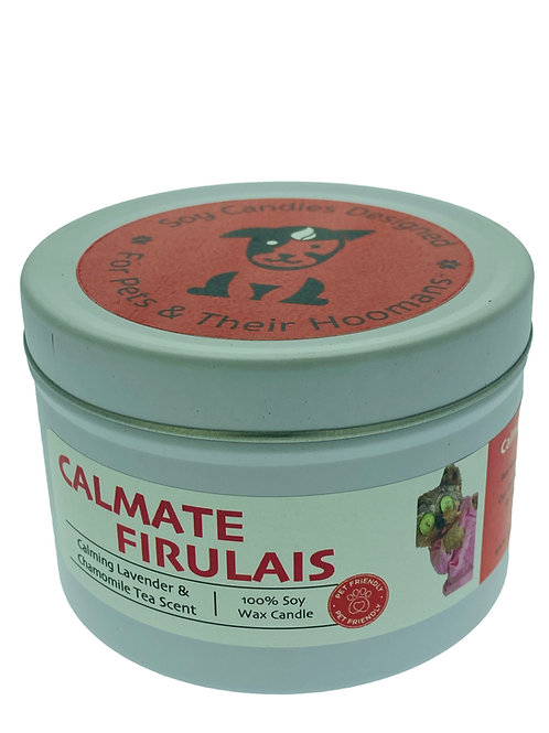 Calmate Firulais ~Calming Lavender & Chamomile Tea Scented Pet Friendly Candle