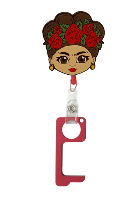 Frida  No TouchKey Ring with  Retractable Reel