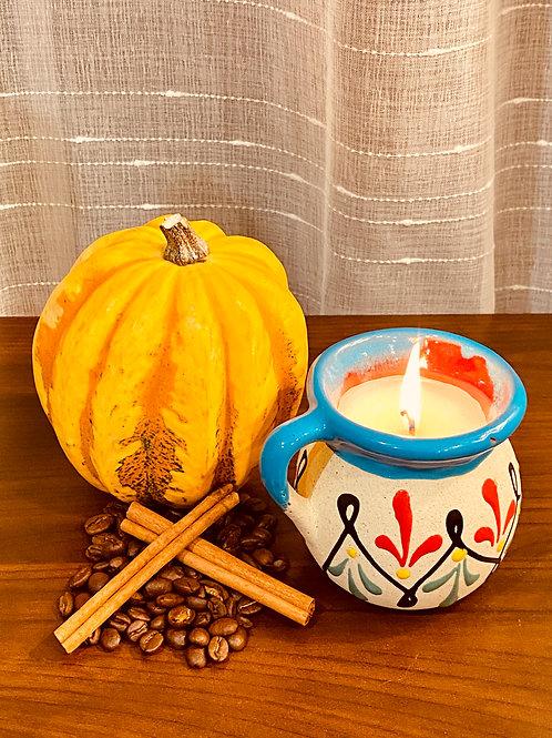Pumpkin Cafe de Olla Candle ~ Fresh Coffee with Cinnamon and Pumpkin Spice