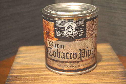 Warm Tobacco Pipe ~Smoky, Sweet Tobacco Pipe Scented ~ 100% Soy Candle ~ 8oz Tin