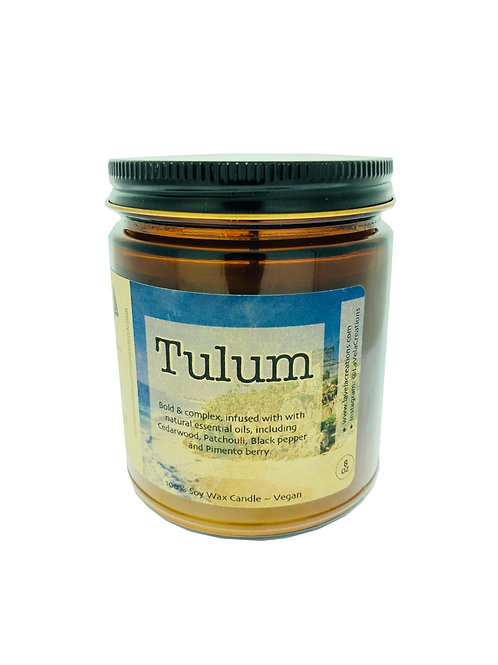 Tulum ~ Bold & Complex Earthy Essential Oil Blend ~ 100% Soy Candle ~ 8 o