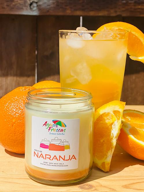 Agua de Naranja ~ Fresh, Sweet Orange Citrus Scented Soy Candle