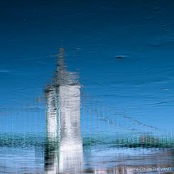 Les flots de mon âme Impression variation de bleu