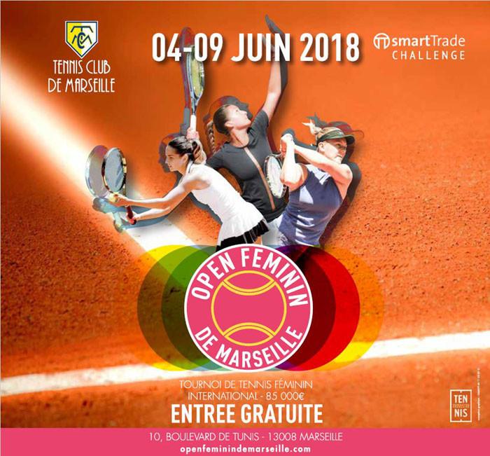 Affiche tournoi Open Féminin de Marseille