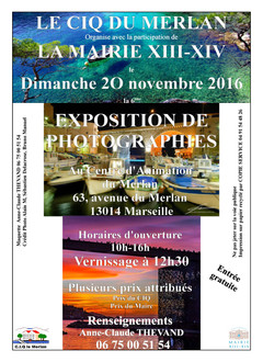 Invitation exposition photographique au Centre d'Animation du Merlan