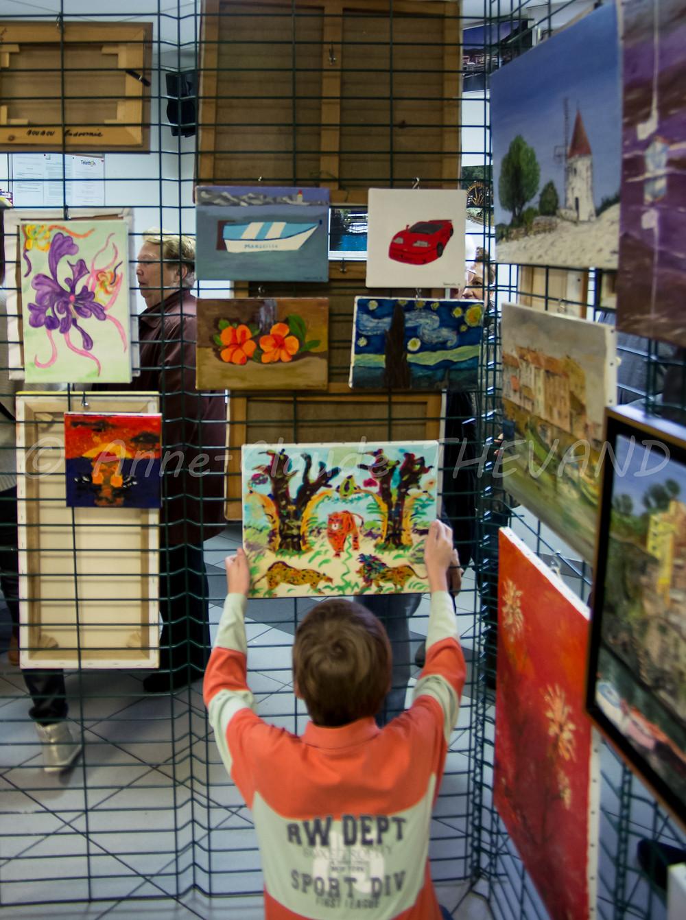 Exposition de peinture du Merlan 27-02-16 ACT 1