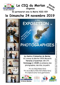 Affiche exposition photo 24 novembre 2019