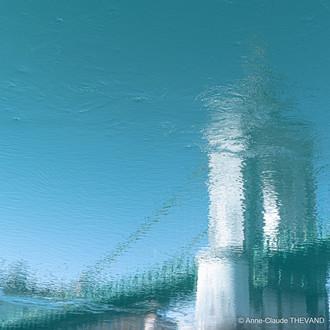 Les flots de mon âme Impression turquoise