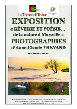 Affiche expo table de l'olivier
