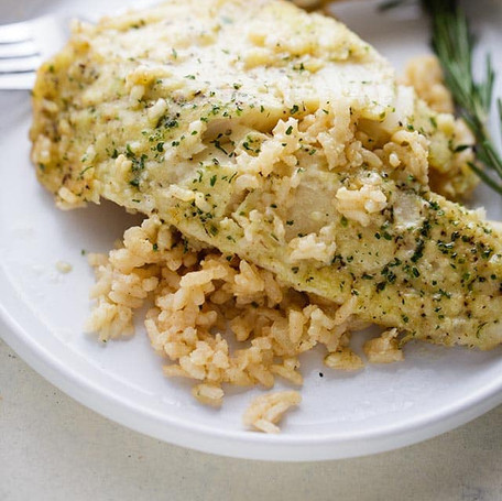 Herb Tilapia Risotto