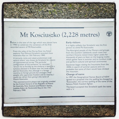 Why is it called Mount Kosciuszko?