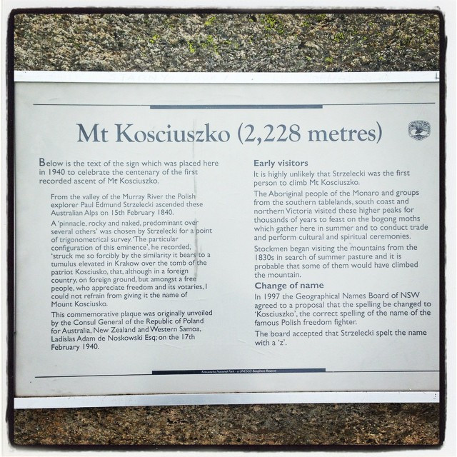 Instagram - Mount #Kosciuszko is not the highest mountain in the world standing