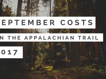 September Costs - Appalachian Trail