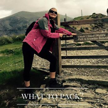 What to take when walking up Snowdon.