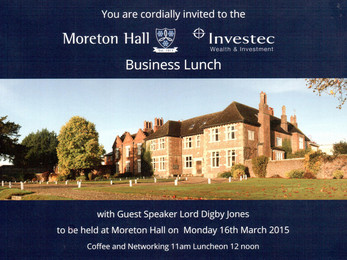 Moreton Hall & Investec Business Lunch