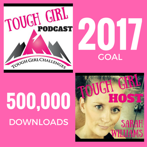 Tough Girl Podcasting Goal for 2017 - 500,000 DOWNLOADS!!
