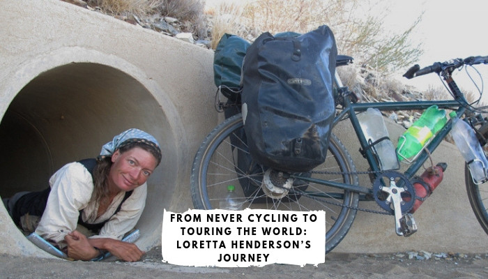 Tough Girl - Loretta Henderson - quit her normal life at 36, and having never cycled before, set off to cycle around the world!
