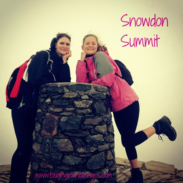 Whoop whoop!! Reaching the top of #Snowdon!! With @louiseeclair The highest mountain in #Wales! #toughgirl #ToughGirlChallenges