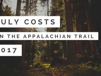 July Costs - Appalachian Trail