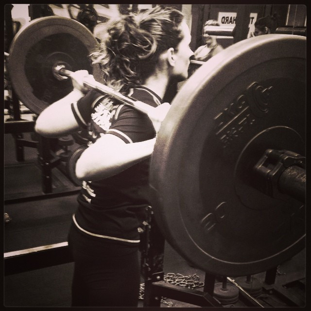 Instagram - Loving back squats! (60kg)  #strongnotskinny #strongwomen #backsquat