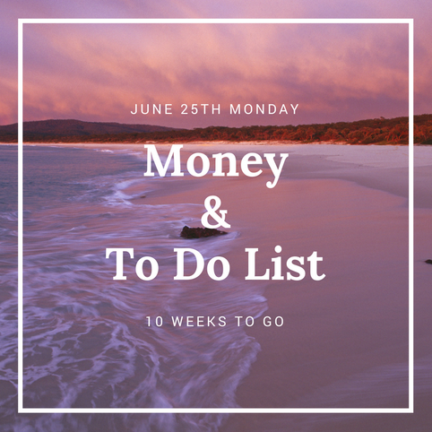 Money & To Do List -->> 10 Weeks to Go...