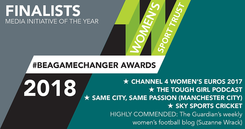 Women's Sport Trust reveals #BeAGameChanger Awards 2018 finalists