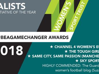 Women's Sport Trust - #BeAGameChanger Awards 2018 finalists