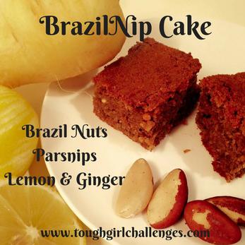 "My ""BrazilNip"" Cake = Brazil Nut & Parsnip Cake!"