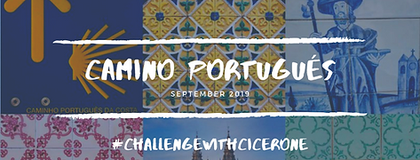 The Camino Portugues Logo with #ChallengewithCicerone