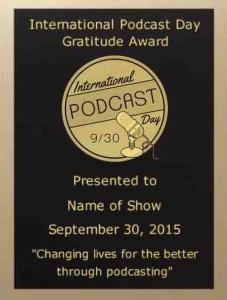 International Podcast Day Gratitude Award - VOTE NOW!!!!