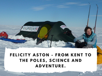Felicity Aston - From Kent to the Poles, science and adventure.