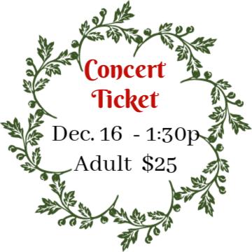 DEC 16, 2018 - 1:30 pm Holiday Concert - Adult